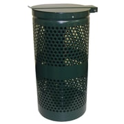 DOGIPOT 15-Gal Aluminum Trash Receptacle with Stainless Steel Lid and Liner Trash Bags