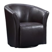 Picket House Furnishings Rocket Swivel Arm Chair; Brown