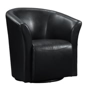 Picket House Furnishings Rocket Swivel Arm Chair; Black