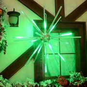 Brite Ideas 24'' Animated Starburst LED Light; Green