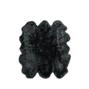 Fibre by Auskin Six Pelt Black Area Rug