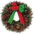 Urban Florals Ritz Holiday Wreath; 22'' H x 22'' W x 6'' D