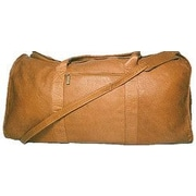 David King 25'' Leather Travel Duffel; Tan