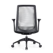 Woodstock Marketing Creedence Mesh Task Chair with Adjustable Arm; Gray/Black