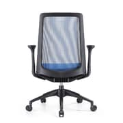 Woodstock Marketing Creedence Mesh Task Chair with Adjustable Arm; Blue