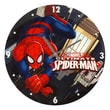 TMD Holdings Marvel Comics Ultimate Spiderman Swing 13.75'' Glass Clock