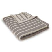 Darzzi Beach Stripes Cotton Throw; Gray/Natural