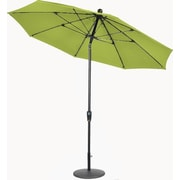 Secret Garden 9' Matte Black Push Buttom Tilt Market Umbrella; Macaw