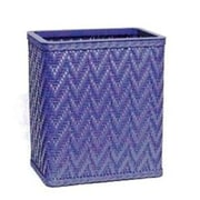 Redmon Elegante Decorator Wicker Wastebasket; Coastal Blue