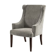 Madison Park Marcel High Back Wing Arm Chair; Charcoal