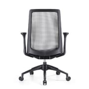Woodstock Marketing Creedence Mesh Task Chair with Adjustable Arm; Gray