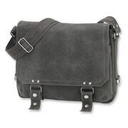 David King East West Distressed Messenger Bag; Grey