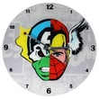 TMD Holdings Marvel Comics Mixed Character Faces 13.75'' Glass Clock