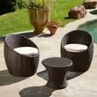 Home Loft Concept 3 Piece Phillipa Seating Group with Cushions