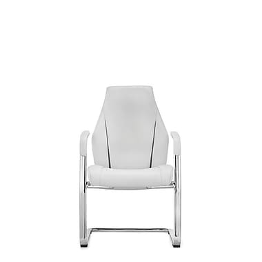 Whiteline Imports Stanford Mid-Back Leather Conference Chair; White