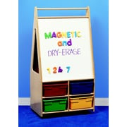 Childcraft Mobile Magnetic Dry-Erase Double-Sided Easel