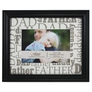 Fetco Home Decor Expressions Macman Dad / Father / Daddy Picture Frame; Black