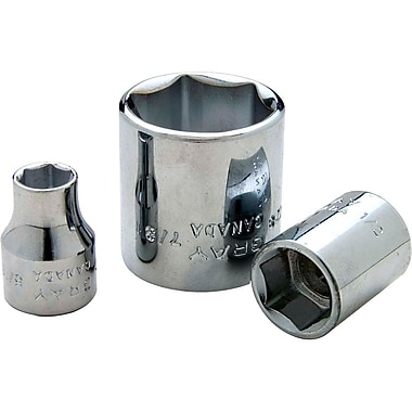 Gray Tools 12 Point Standard Length, Chrome Finish Sockets, Drive size: 3/8