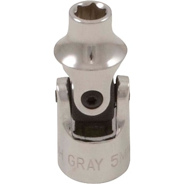 Gray Tools 6 Point Standard Length, Universal Joint Sockets, Chrome Finish
