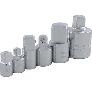 Gray Tools 6 Piece Chrome Adapter Set, 1/4, 3/8, 1/2, & 3/4