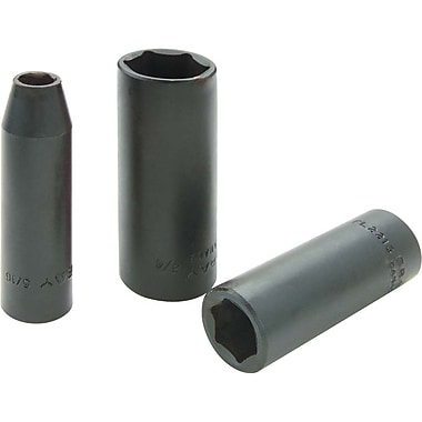 Gray Tools Drive, 6 Point Deep Length, Black Impact Sockets