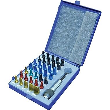 Gray Tools 36 Piece Color Insert Bit Set In Metal Case, Includes Magnetic Bit Holder