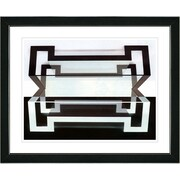 Studio Works Modern ''Hexnocular I'' by Zhee Singer Framed Painting Print; Satin Black