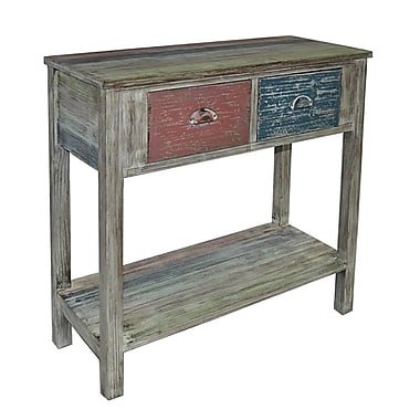 Cheungs 1 Shelf and 2 Drawer Cabinet