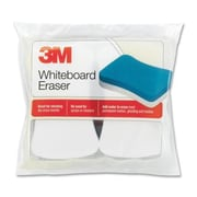 3M Whiteboard Eraser Pads, 5''x3'', 2 per Pack, White/Yellow
