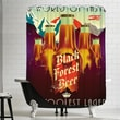 Americanflat Polyester Black Forest Beer Shower Curtain