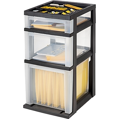 IRIS® 3-Drawer Filing Cart with Organizer Top (115027)