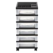 Staples® Plastic/Polyester 6-Drawer Mobile Organizer (116862)