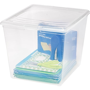 IRIS® 34 Quart Deep Clear Storage Box, 10 Pack (101521)