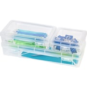 IRIS® Modular Supply Case Combo, Clear, 6 Pack (215490)