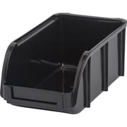 IRIS® Small Stacking Bin, Black, 12 Pack (110026)
