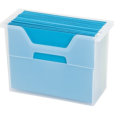 IRIS® Medium Open Top File Box, Clear (103414)