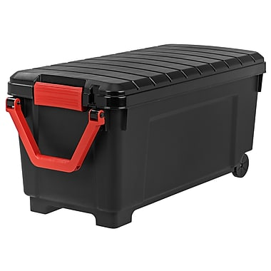 IRIS® 42.25 GAL Heavy Duty Storage Tote with Wheels, Black, 2 Pack (250080)