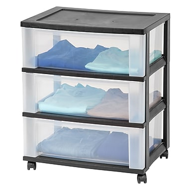 Staples® 3-drawer Wide Organizer with Plastic Top (124017)