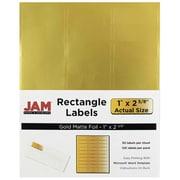 JAM Paper® Mailing Address Labels, 1 x 2 5/8, Matte Gold Foil, 120/pack (4074937)