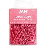 JAM Paper® Regular Colored Paper Clips, Pink, 100/Box