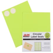 JAM Paper® Round Circle Label Sticker Seals, 1 2/3 inch diameter, Lime Green, 120/pack (147627049)