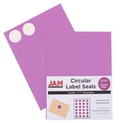 "Jam® Paper 1 1/2"" Circle Label Sticker Seal, Violet, 24 Labels per Page, 120/Pack"