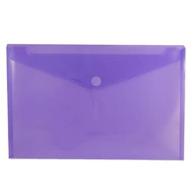 JAM Paper® Plastic Envelopes with VELCRO® Brand Closure, Legal Booklet, 9.75 x 14.5, Purple Poly, 12/Pack (235827779)