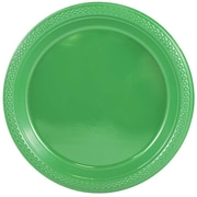 JAM Paper® Round Plastic Plates, Medium, 9 Inch, Green, 20/pack (255328197)