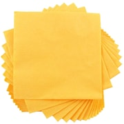 "JAM Paper® Small Beverage Napkins, 5"" x 5"" Yellow, 50/Pack"