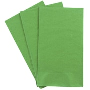JAM Paper® Rectangular Party Napkins Guest Towels, 8 x 4.5, Green, 16pack (255728203)