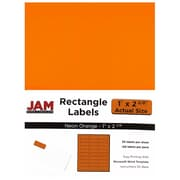 JAM Paper® Mailing Address Labels, 1 x 2 5/8, Neon Orange, 120/pack (354328014)