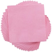 JAM Paper® Small Beverage Napkins, Small, 5 x 5, Baby Pink, 50/Pack (5255620713)