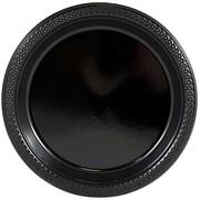 JAM Paper® Round Plastic Plates, Medium, 9 Inch, Black, 20/pack (9255320673)