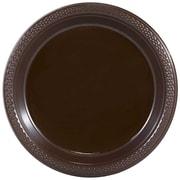 JAM Paper® Round Plastic Plates, Medium, 9 Inch, Chocolate Brown, 20/pack (9255320677)